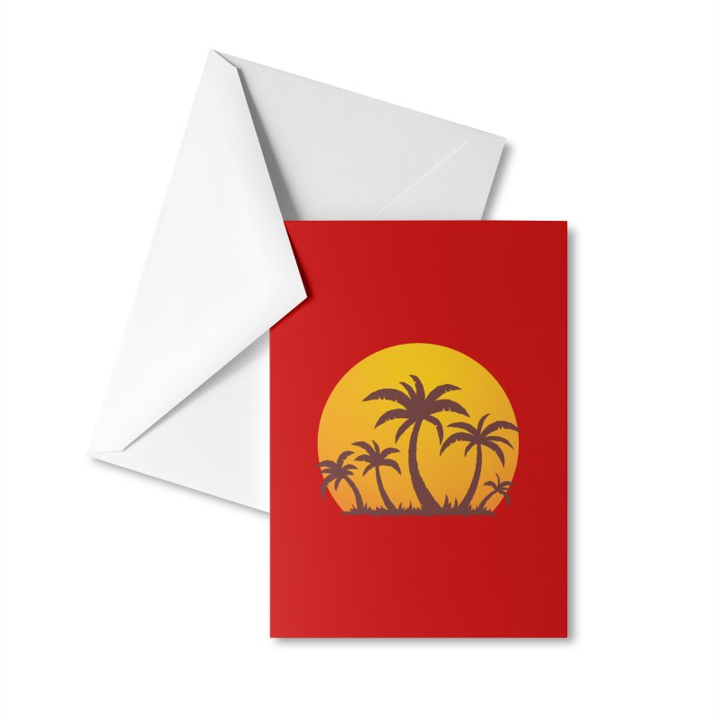 Palm Trees and Sunset Accessories Greeting Card by Fizzgig's Artist Shop