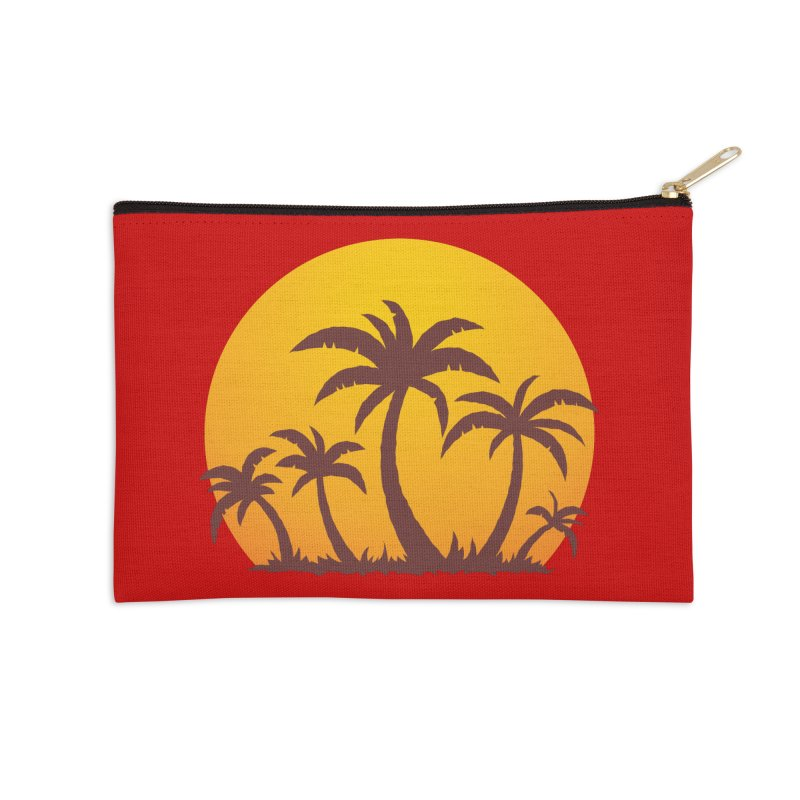 Palm Trees and Sunset Accessories Zip Pouch by Fizzgig's Artist Shop