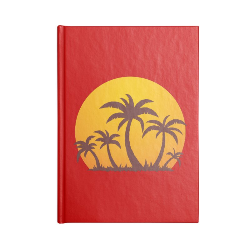 Palm Trees and Sunset Accessories Notebook by Fizzgig's Artist Shop