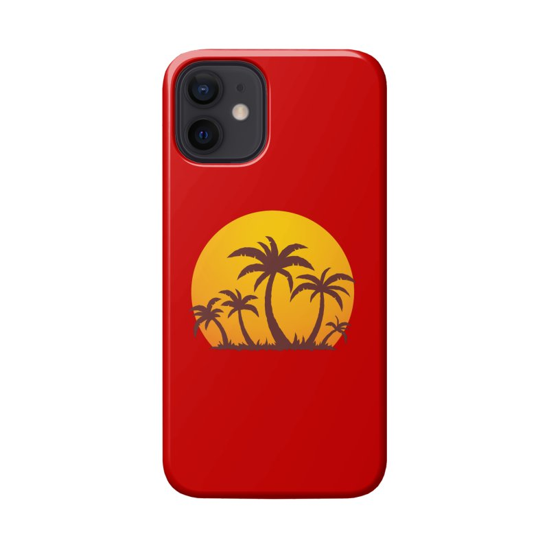Palm Trees and Sunset Accessories Phone Case by Fizzgig's Artist Shop