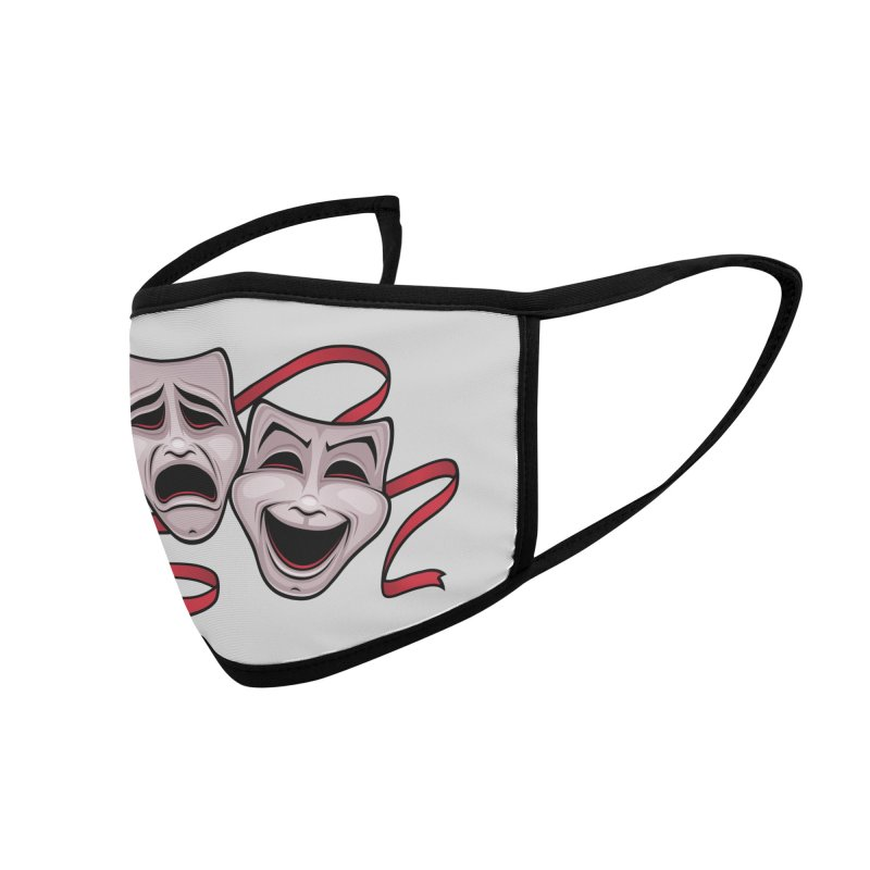 Comedy And Tragedy Theater Masks Accessories Face Mask by Fizzgig's Artist Shop