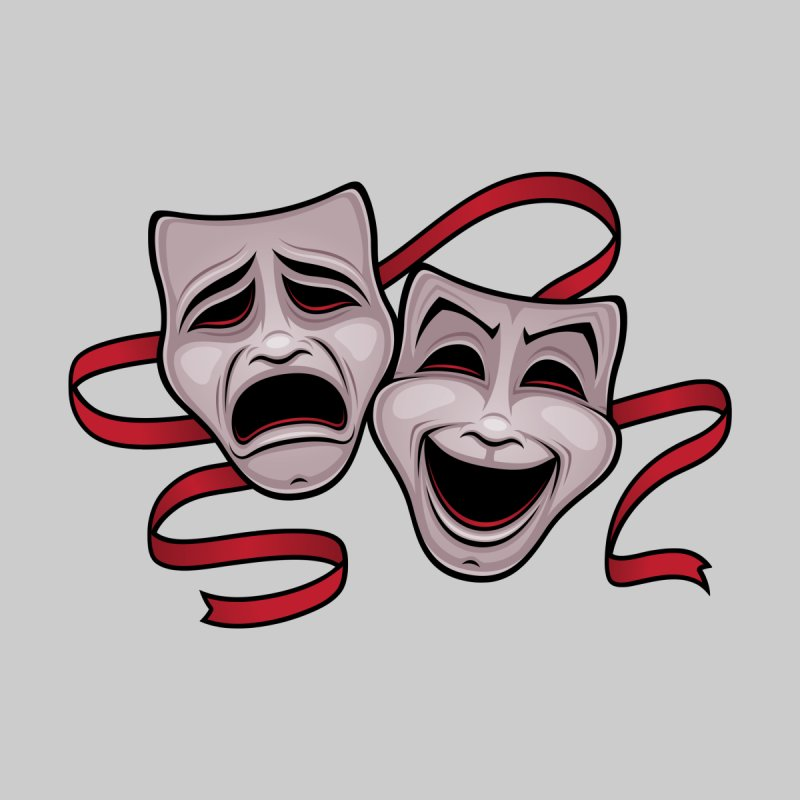 Comedy And Tragedy Theater Masks by Fizzgig's Artist Shop