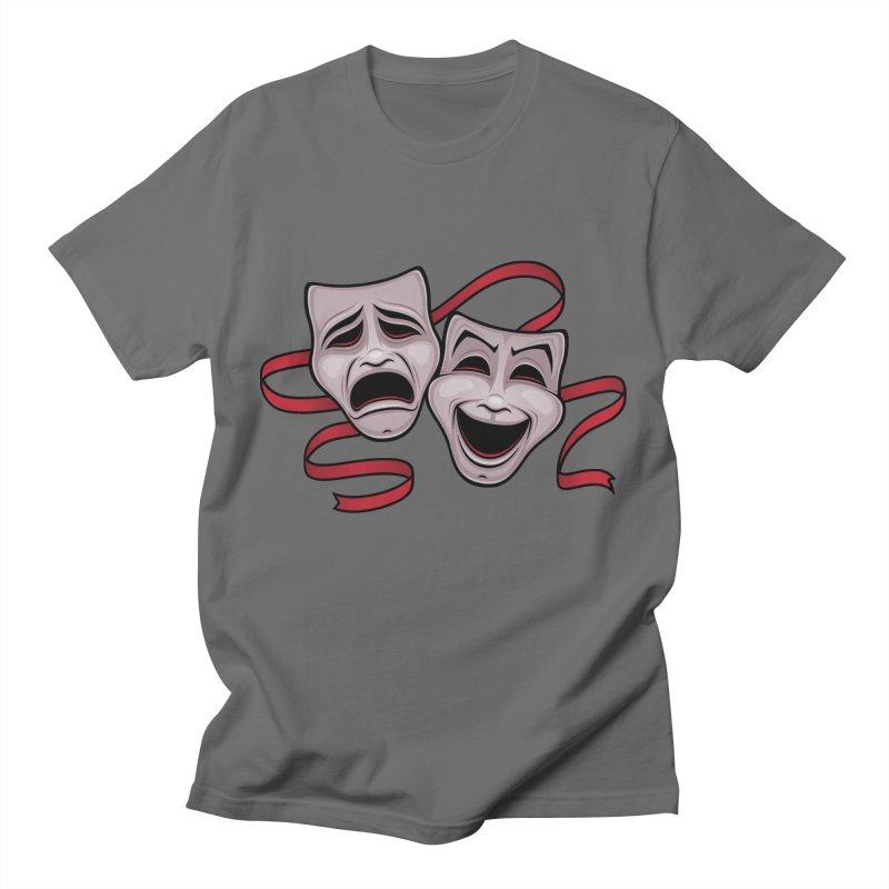 Comedy And Tragedy Theater Masks Men's T-Shirt by Fizzgig's Artist Shop