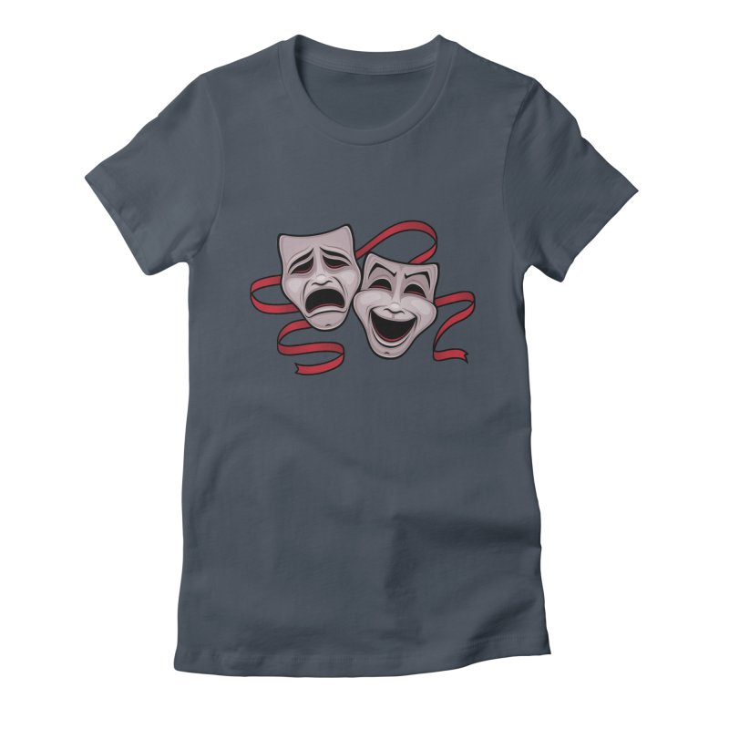 Comedy And Tragedy Theater Masks Women's T-Shirt by Fizzgig's Artist Shop