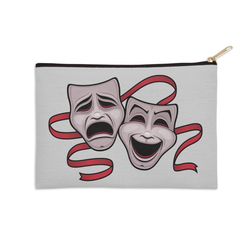 Comedy And Tragedy Theater Masks Accessories Zip Pouch by Fizzgig's Artist Shop