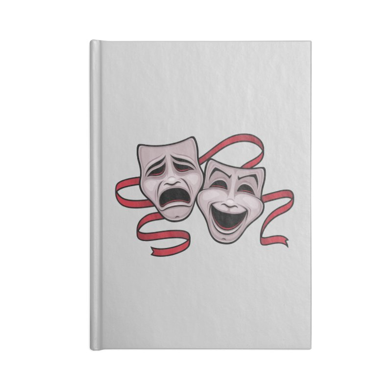 Comedy And Tragedy Theater Masks Accessories Notebook by Fizzgig's Artist Shop