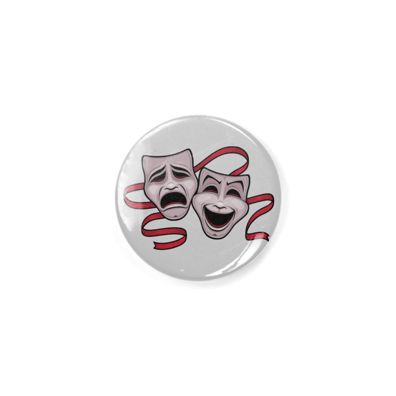 Comedy And Tragedy Theater Masks Accessories Button by Fizzgig's Artist Shop