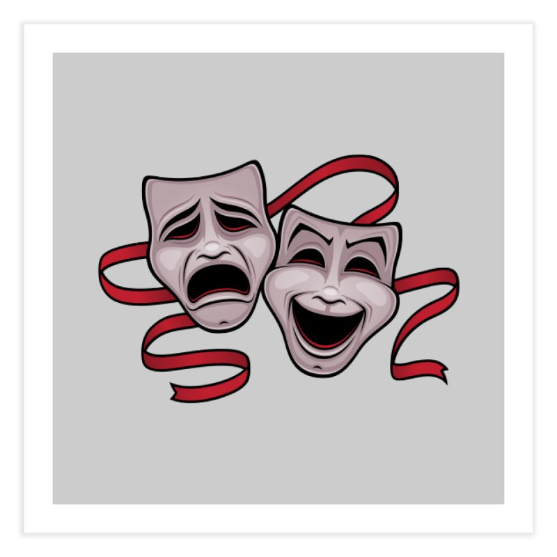 Comedy And Tragedy Theater Masks Home Fine Art Print by Fizzgig's Artist Shop