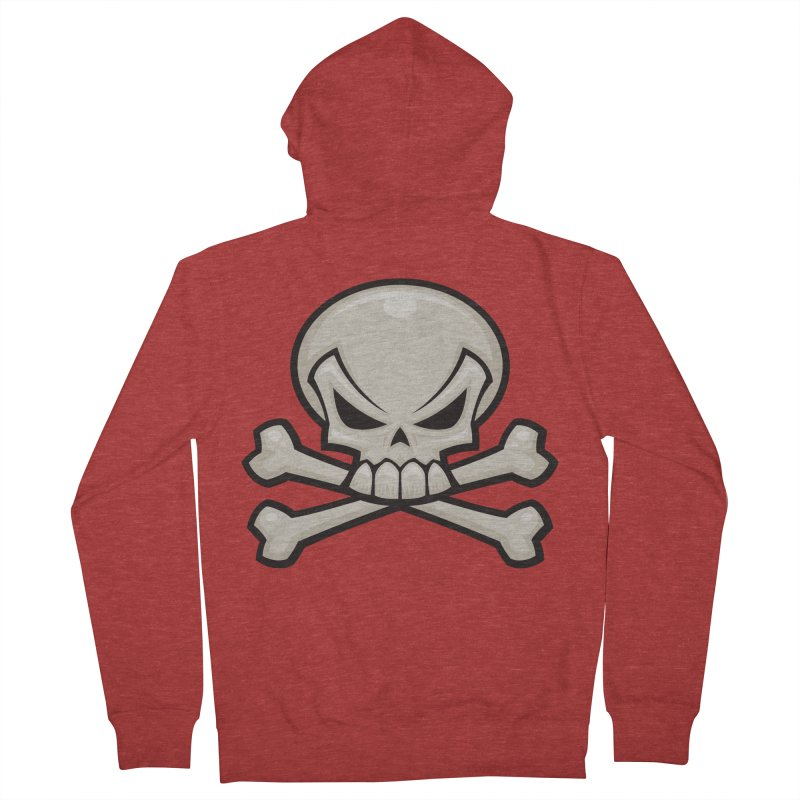 Skull and Crossbones Women's Zip-Up Hoody by Fizzgig's Artist Shop