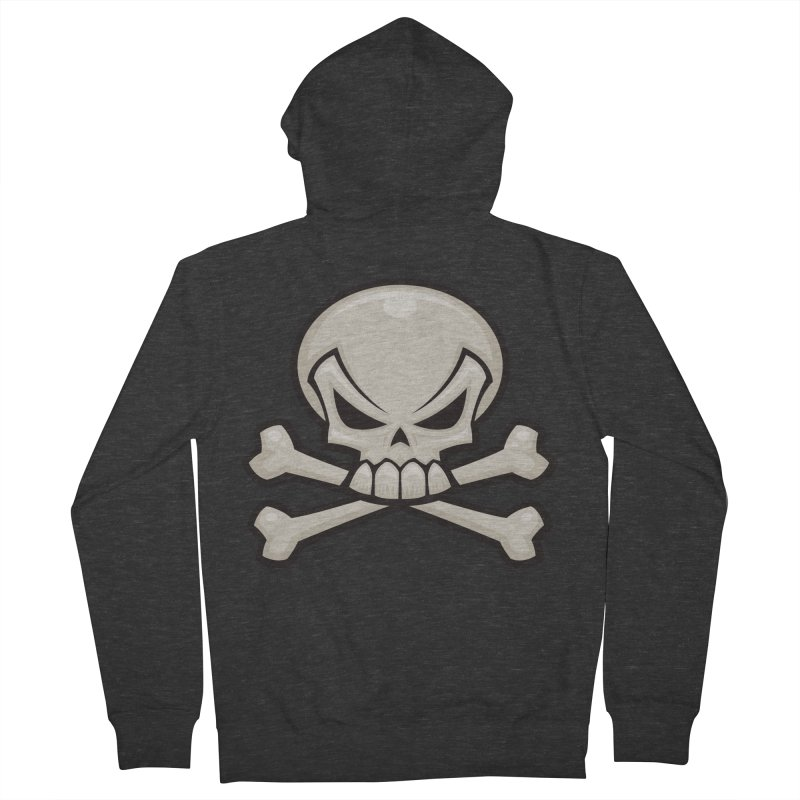Skull and Crossbones Men's Zip-Up Hoody by Fizzgig's Artist Shop