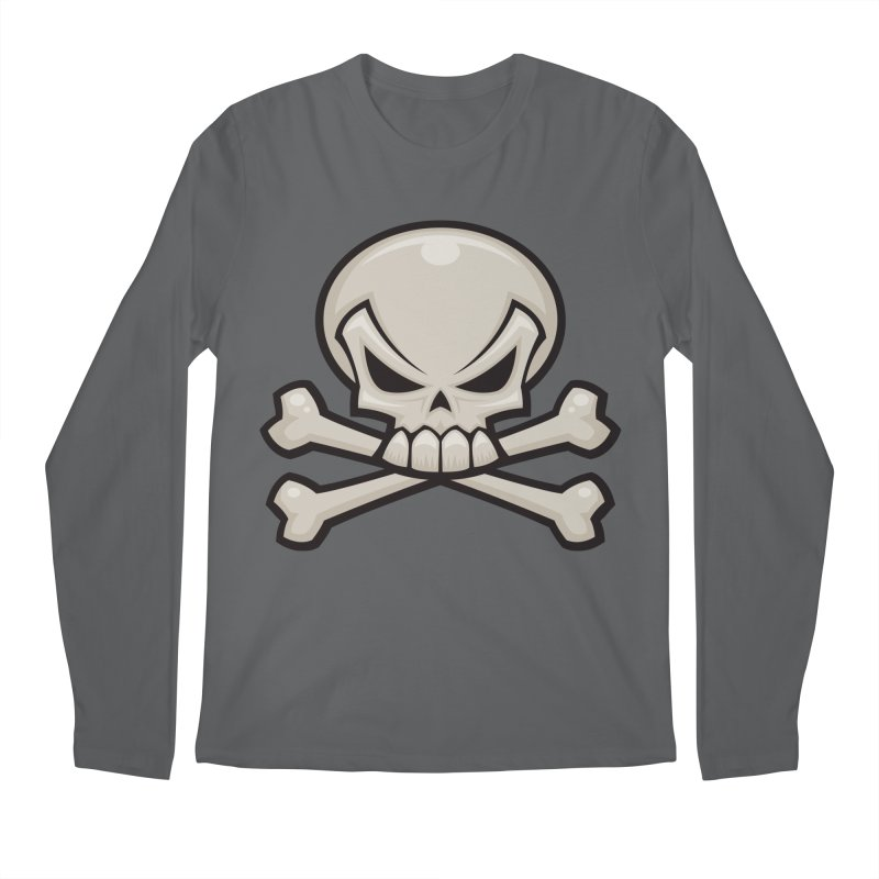 Skull and Crossbones Men's Longsleeve T-Shirt by Fizzgig's Artist Shop