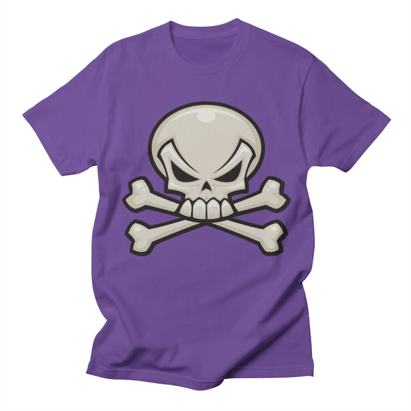 Skull and Crossbones Men's T-shirt by Fizzgig's Artist Shop