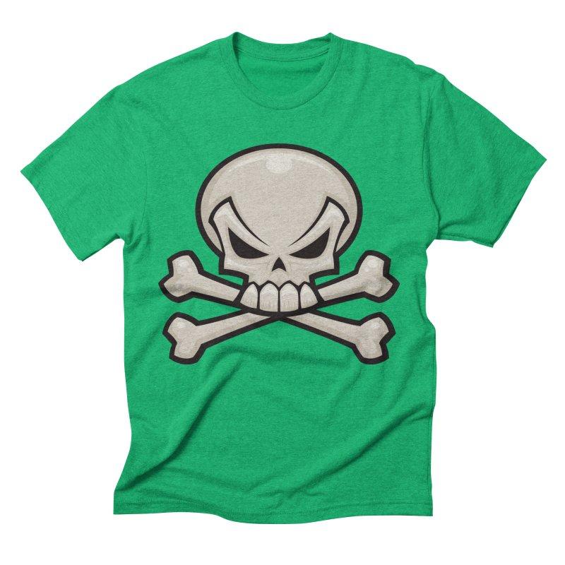 Skull and Crossbones Men's Triblend T-shirt by Fizzgig's Artist Shop