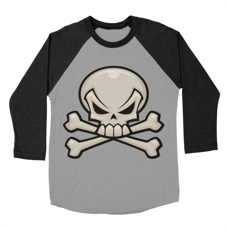 Skull and Crossbones Women's Baseball Triblend T-Shirt by Fizzgig's Artist Shop