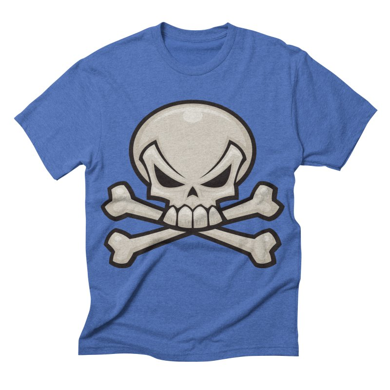Skull and Crossbones Men's Triblend T-shirt by Fizzgig's Artist Shop