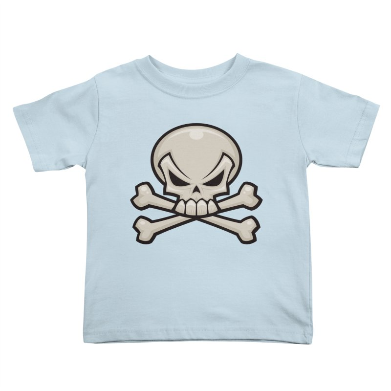 Skull and Crossbones Kids Toddler T-Shirt by Fizzgig's Artist Shop