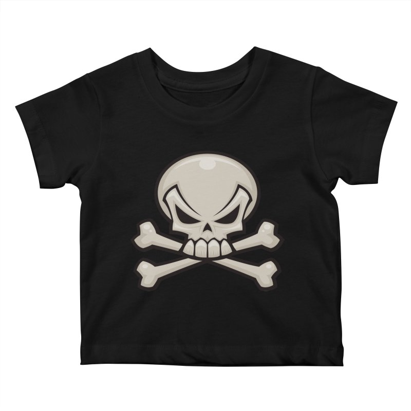 Skull and Crossbones Kids Baby T-Shirt by Fizzgig's Artist Shop