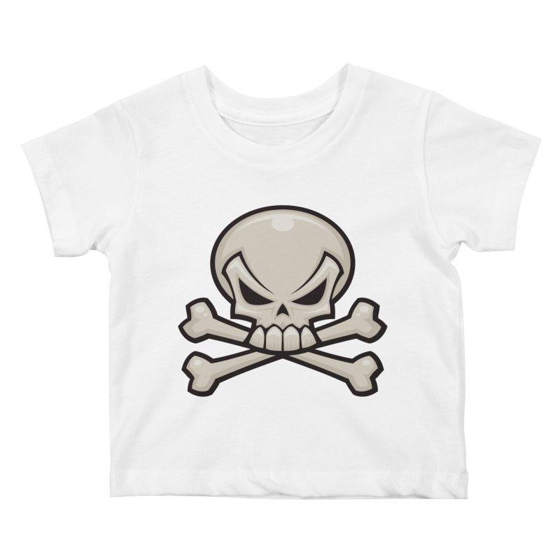 Skull and Crossbones Kids Baby T-Shirt by Fizzgig's Artist Shop