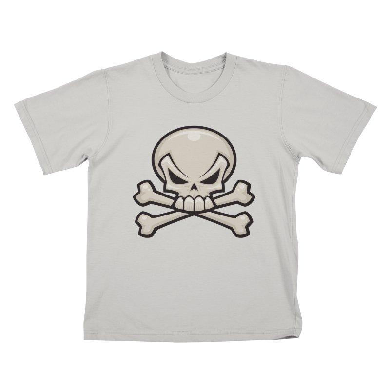 Skull and Crossbones Kids T-shirt by Fizzgig's Artist Shop