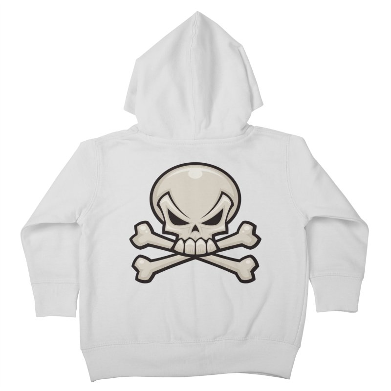 Skull and Crossbones Kids Toddler Zip-Up Hoody by Fizzgig's Artist Shop