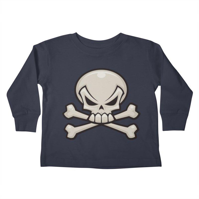 Skull and Crossbones Kids Toddler Longsleeve T-Shirt by Fizzgig's Artist Shop
