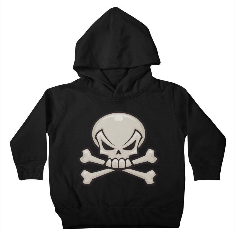 Skull and Crossbones Kids Toddler Pullover Hoody by Fizzgig's Artist Shop