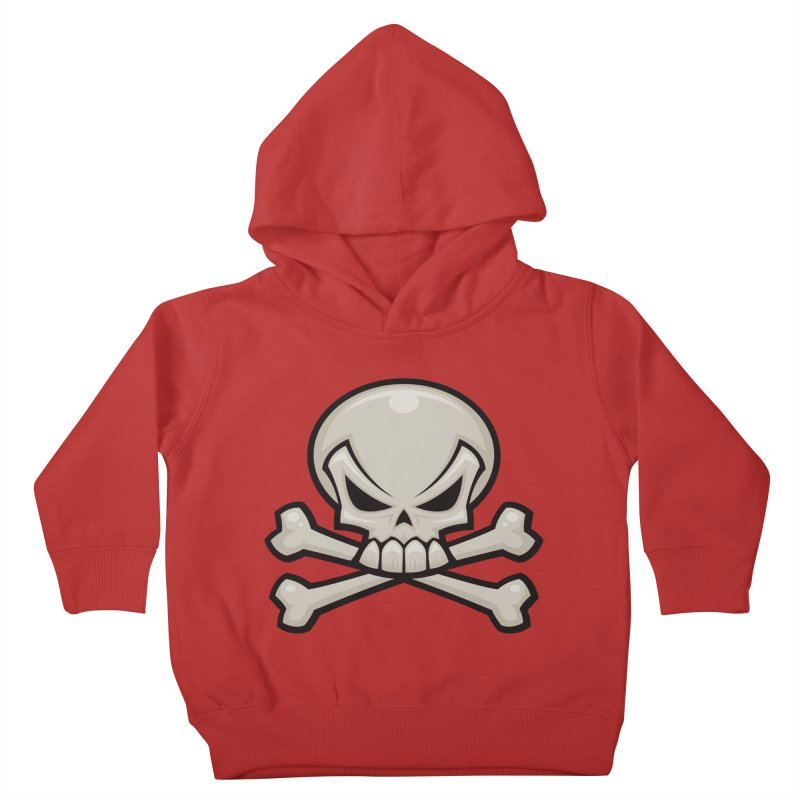 Skull and Crossbones Kids Toddler Pullover Hoody by Fizzgig's Artist Shop