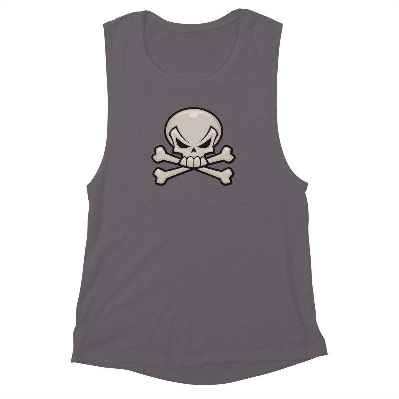 Skull and Crossbones Women's Muscle Tank by Fizzgig's Artist Shop