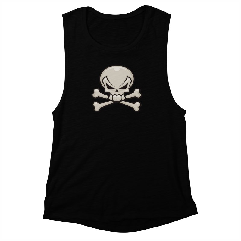 Skull and Crossbones Women's Muscle Tank by Fizzgig's Artist Shop