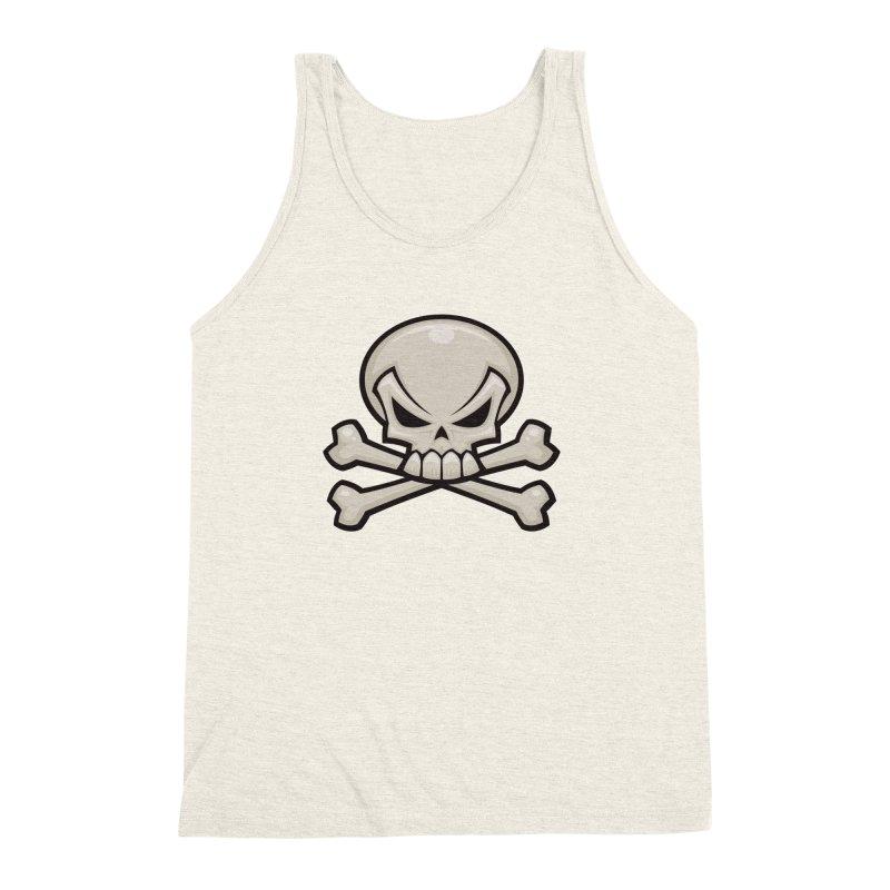 Skull and Crossbones Men's Triblend Tank by Fizzgig's Artist Shop