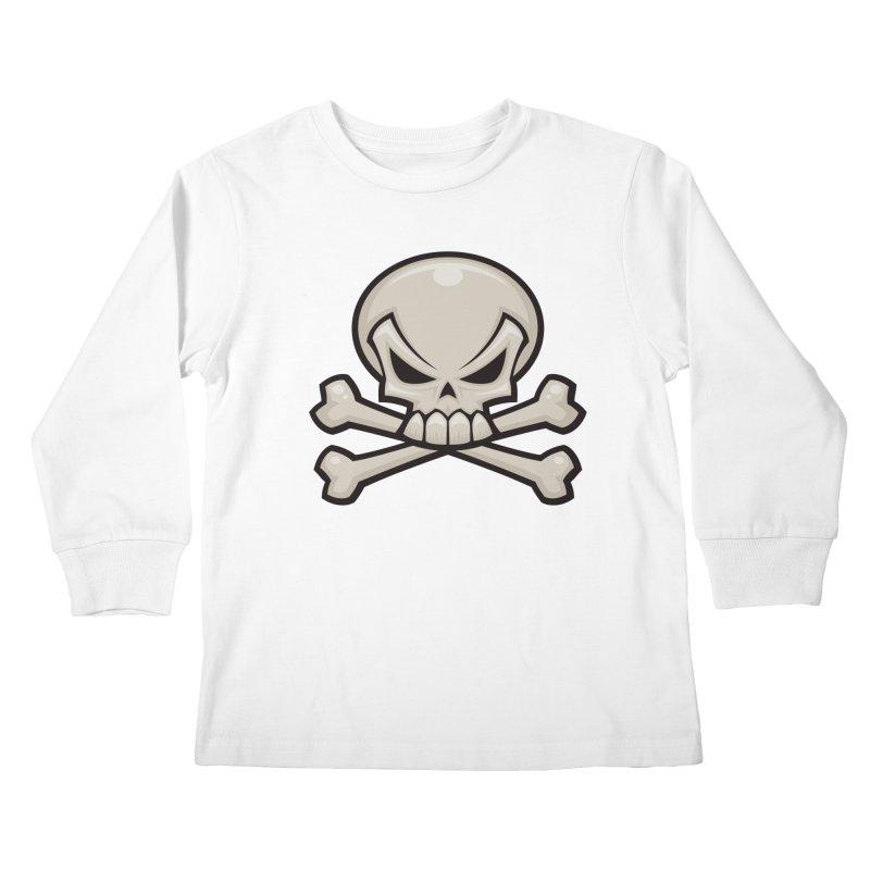 Skull and Crossbones Kids Longsleeve T-Shirt by Fizzgig's Artist Shop