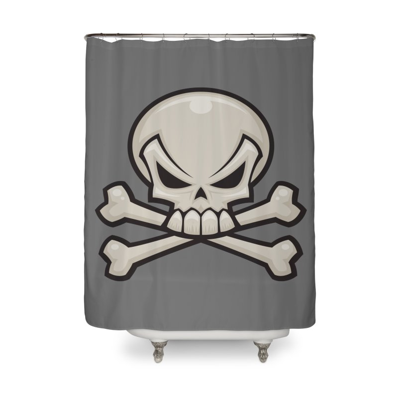 Skull and Crossbones Home Shower Curtain by Fizzgig's Artist Shop
