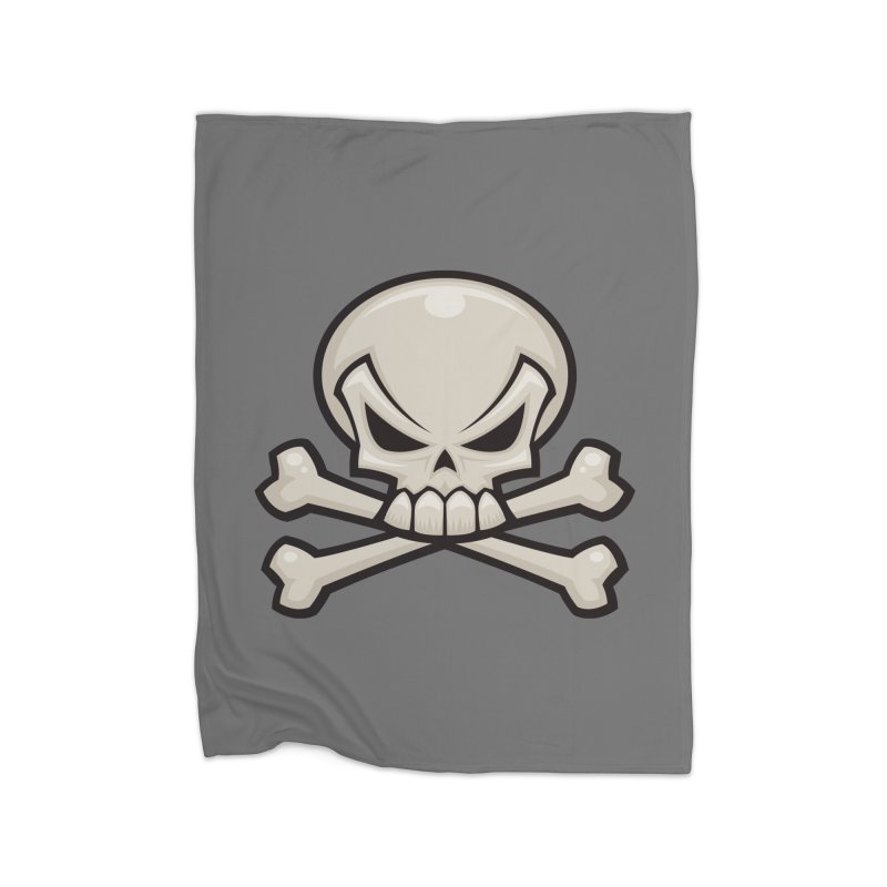 Skull and Crossbones Home Blanket by Fizzgig's Artist Shop