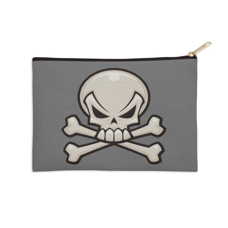 Skull and Crossbones Accessories Zip Pouch by Fizzgig's Artist Shop