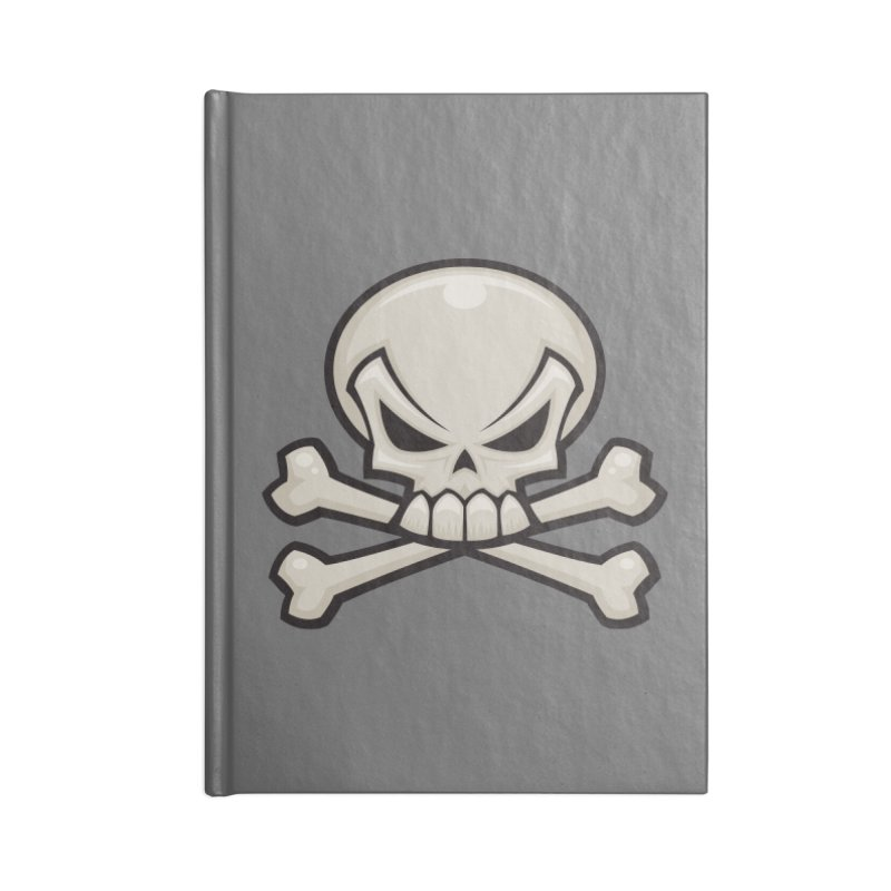 Skull and Crossbones Accessories Notebook by Fizzgig's Artist Shop