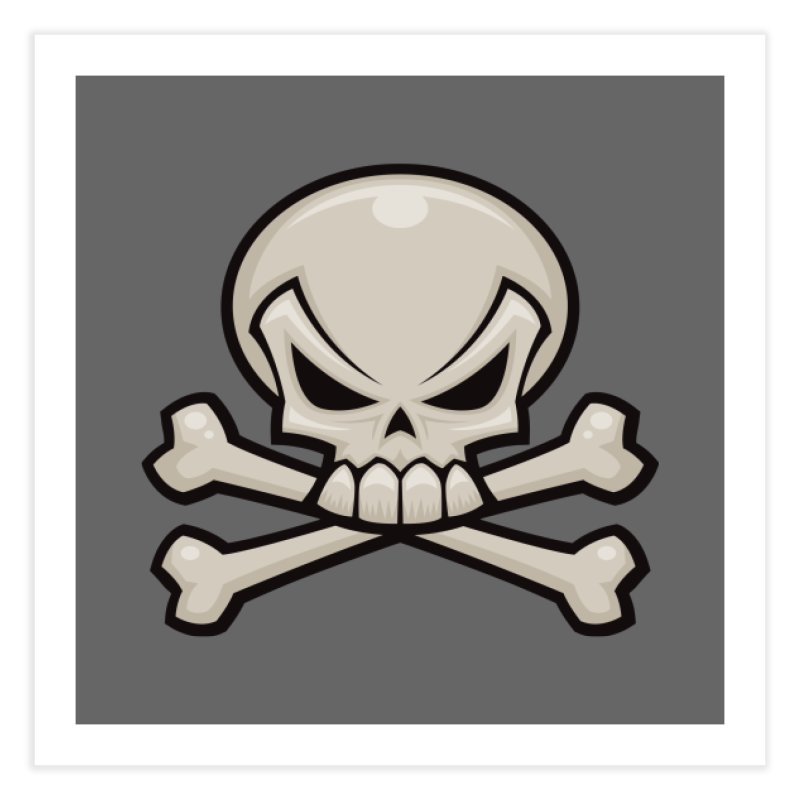 Skull and Crossbones Home Fine Art Print by Fizzgig's Artist Shop