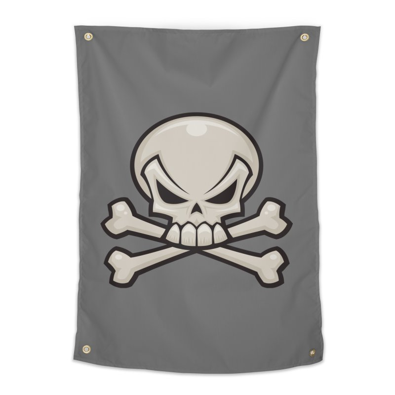 Skull and Crossbones Home Tapestry by Fizzgig's Artist Shop