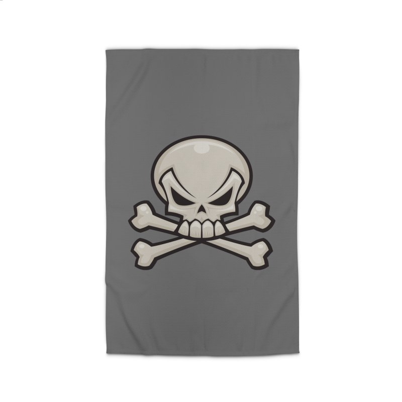 Skull and Crossbones Home Rug by Fizzgig's Artist Shop