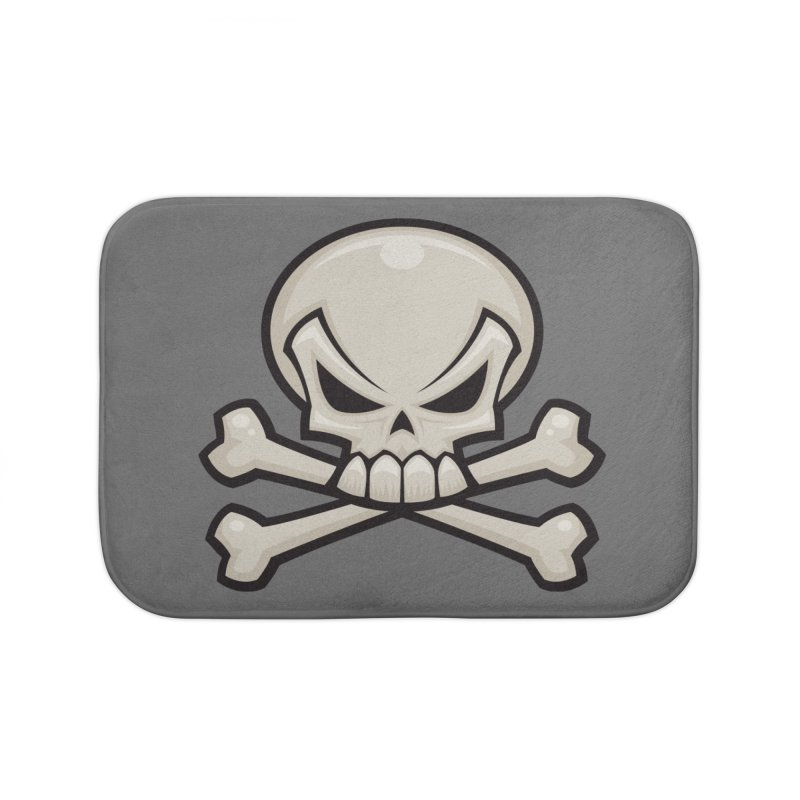 Skull and Crossbones Home Bath Mat by Fizzgig's Artist Shop