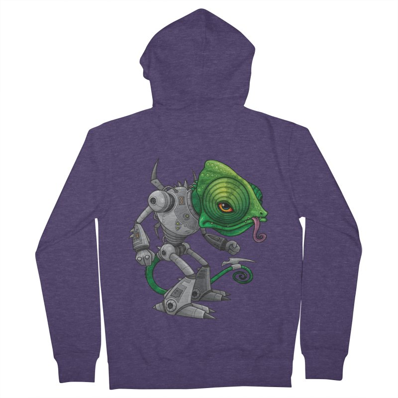 Chameleozoid Men's Zip-Up Hoody by Fizzgig's Artist Shop