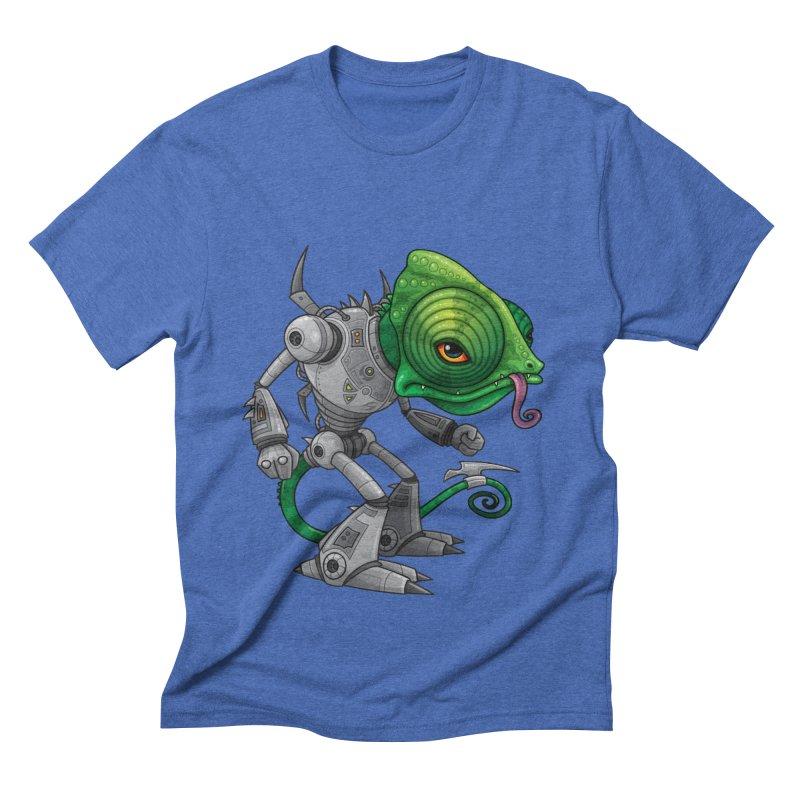 Chameleozoid Men's Triblend T-shirt by Fizzgig's Artist Shop