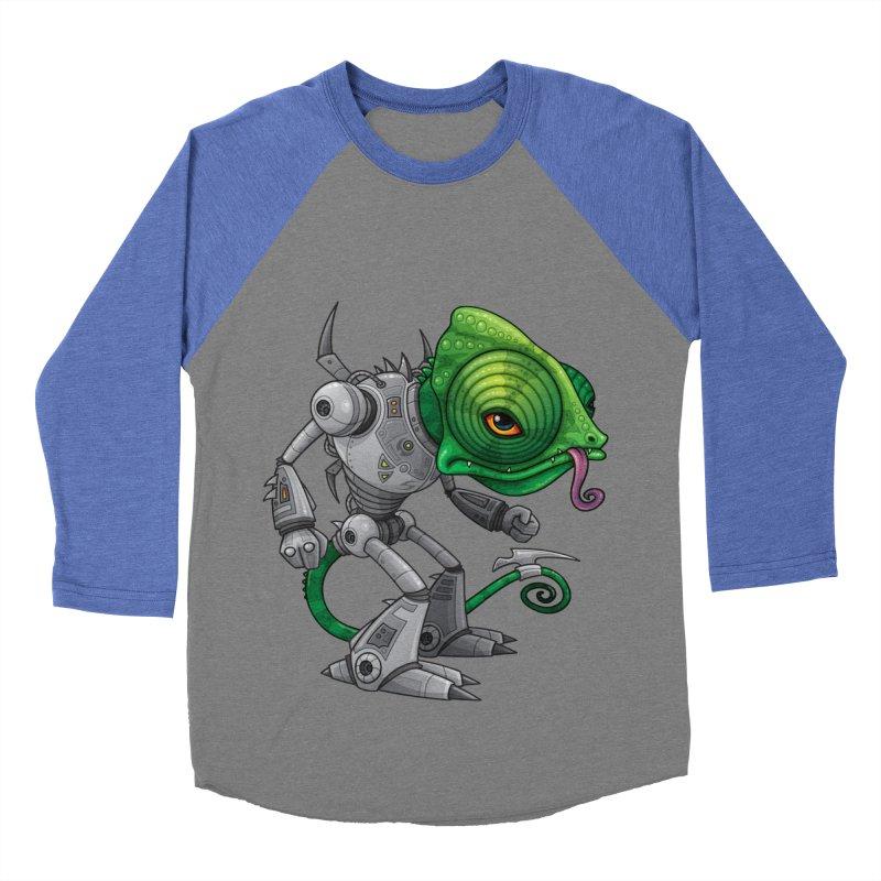 Chameleozoid Women's Baseball Triblend T-Shirt by Fizzgig's Artist Shop