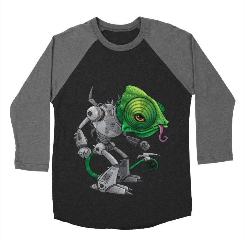 Chameleozoid Men's Baseball Triblend T-Shirt by Fizzgig's Artist Shop