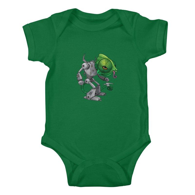 Chameleozoid Kids Baby Bodysuit by Fizzgig's Artist Shop