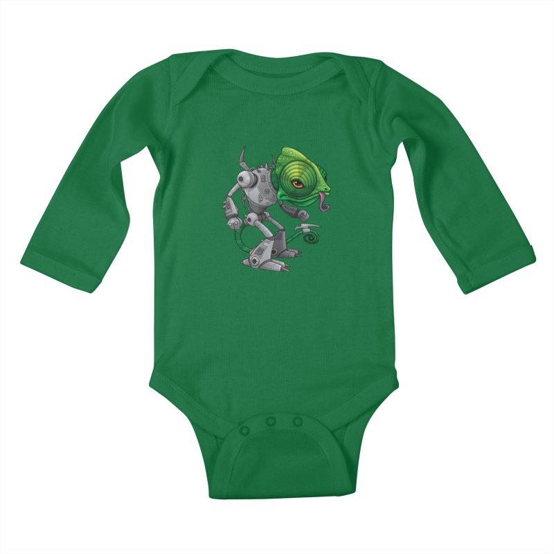Chameleozoid Kids Baby Longsleeve Bodysuit by Fizzgig's Artist Shop