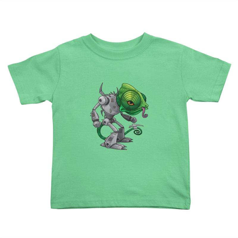 Chameleozoid Kids Toddler T-Shirt by Fizzgig's Artist Shop