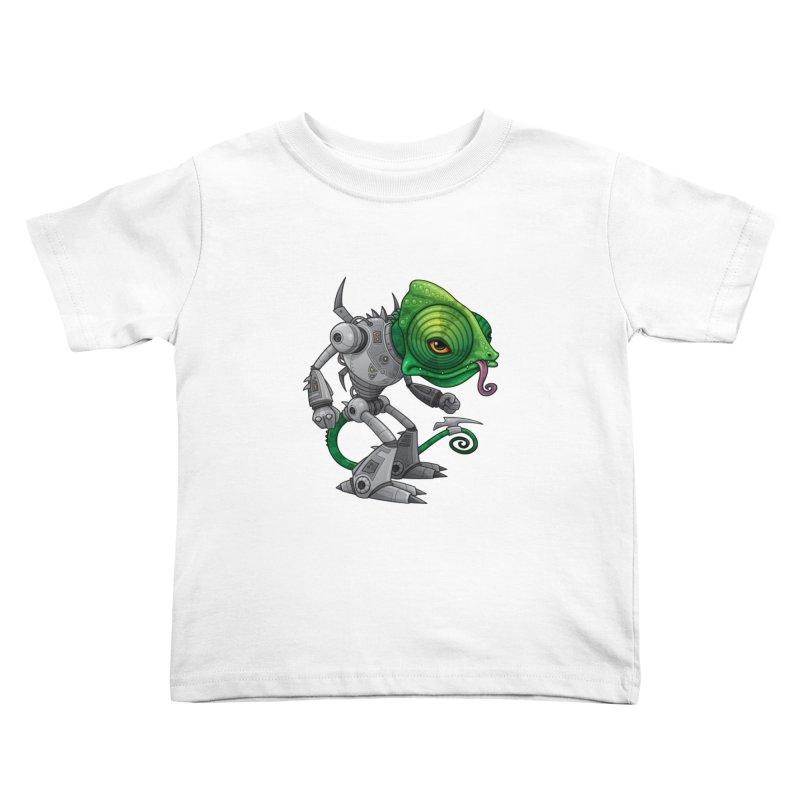 Chameleozoid Kids Toddler T-Shirt by Fizzgig's Artist Shop