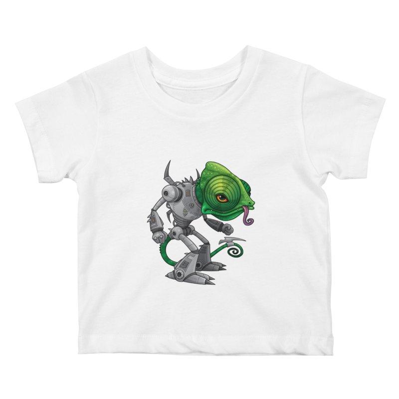 Chameleozoid Kids Baby T-Shirt by Fizzgig's Artist Shop