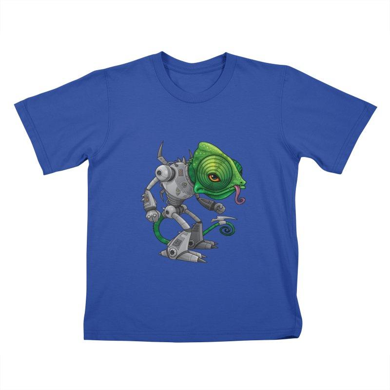 Chameleozoid Kids T-shirt by Fizzgig's Artist Shop