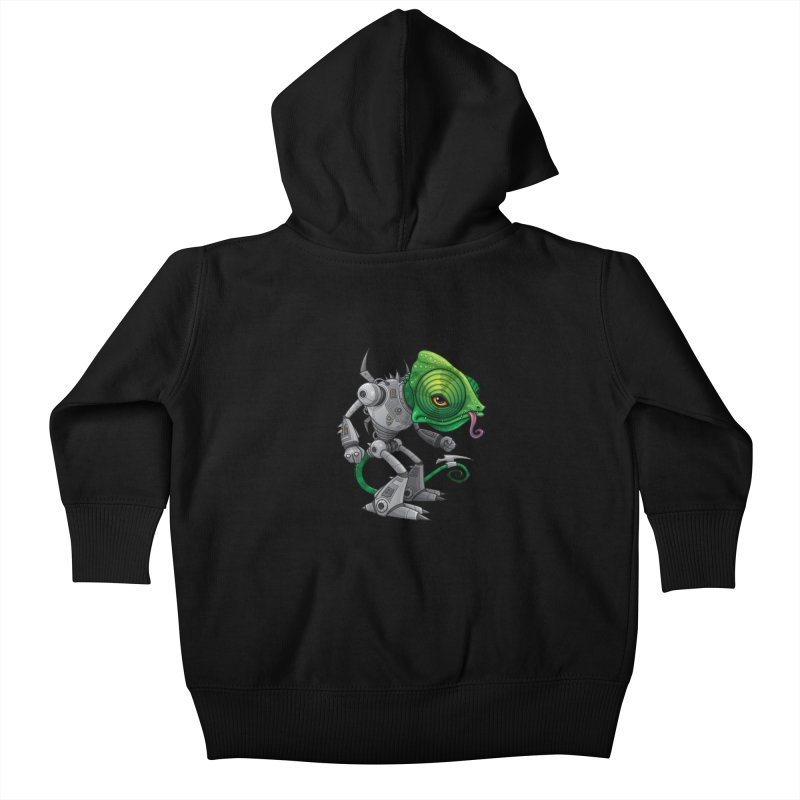 Chameleozoid Kids Baby Zip-Up Hoody by Fizzgig's Artist Shop